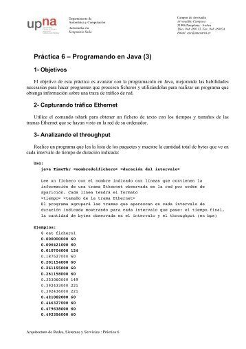 Práctica 6 – Programando en Java (3)