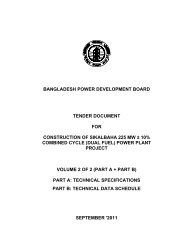 Tender Document for Construction of sikalbaha 225 MW + ... - BPDB