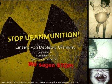 Einsatz von Uranmunition