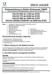 Einbauanleitung zu Elektro-Einbausatz 736602 ... - Bertelshofer