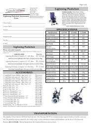 Lightning Pushchair - Tendercare Ltd