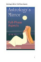 Astrology's Mirror: Full-Phase Aspects 1 - Matrix Software