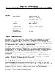 VBIW - Verein Brandenburgischer Ingenieure und Wirtschaftler eV