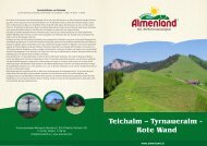 Teichalm – Tyrnaueralm - Rote Wand