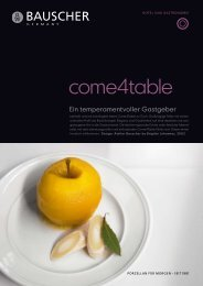 Prospekt - Bauscher Porzellan, Form Come4Table - Badorf