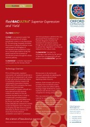 flashBACULTRA™ Superior Expression and Yield - BioNovus Life ...