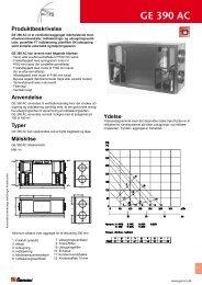 GE 390 AC Tekniske data - Genvex