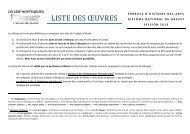 liste des objets d'étude de la troisième 4 - Collège Montesquieu