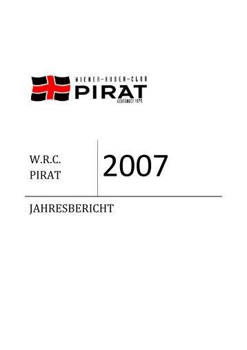 2007 w.r.c. pirat jahresbericht