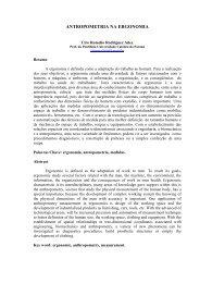 Antropometria na Ergonomia - ProFala