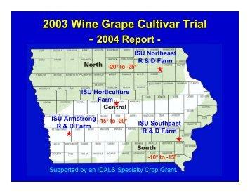 2003 Wine Grape Cultivar Trial - 2004 Report