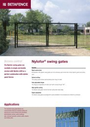 Nylofor® swing gates - Fagel