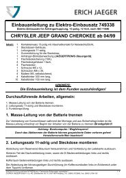 Einbauanleitung zu Elektro-Einbausatz 749338 CHRYSLER JEEP ...