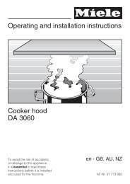 Operating and installation instructions Cooker hood DA 3060