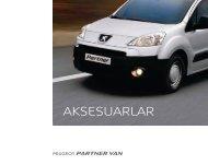 Partner Van aksesuar broşürü - Peugeot