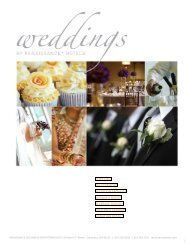 OUR HOTEL THE CEREMONY RECEPTION PACKAGES - Marriott