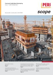 Formwork Scaffolding Engineering Issue 1 | 2010 Middle East ... - Peri