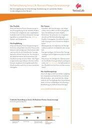 Factsheet Swiss Life Business Protect Zusatzvorsorge