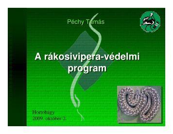 A rákosivipera-védelmi program A rákosivipera-védelmi program