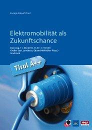 Elektromobilität als Zukunftschance - Energie Tirol