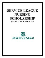 an application you can print out and complete (pdf). - Akron General ...