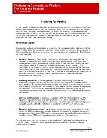 Training - PIMA