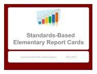 Standards-Based Report Cards