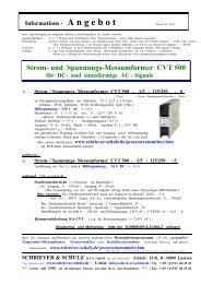 Strom- und Spannungs-Messumformer CVT 500 - SCHRIEVER ...