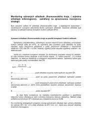 Monitoring vybraných středisek Jihomoravského kraje - Ústav ...
