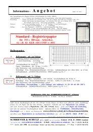 Standard - Registrierpapier - SCHRIEVER & SCHULZ & Co. GmbH