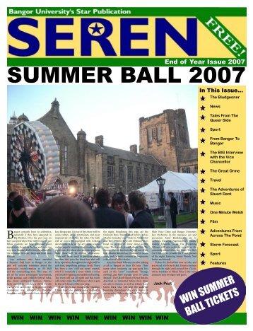 SUMMER BALL 2007 - Seren - Bangor University