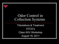 Odor Control in Collection Systems - Ohiowater.org