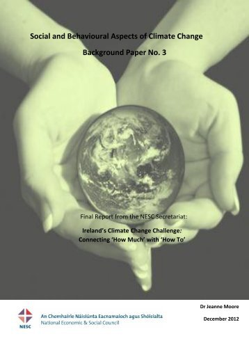 Social and Behavioural Aspects of Climate Change - the NESC ...