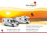 Sunlight husbilar 2013 - Caravanlandia