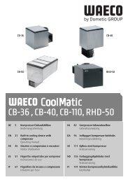 Instrucciones de uso - Waeco