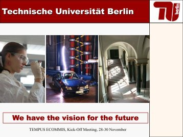 Technische Universität Berlin Technische Universität ... - ECOMMIS