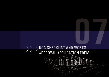 nCA CHeCKliST AnD WorKS APPROVAL APPLICATION FORM