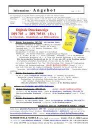 Digitale Druckanzeige DPI 705 - SCHRIEVER & SCHULZ & Co. GmbH
