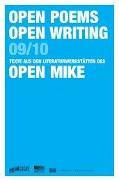 open poems open writing 09/10 - Crespo Foundation