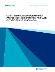 Pro-Pac 2012-13 Information Package - Ontario Tennis