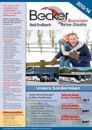 Unsere Sonderreisen - Becker - Reisen