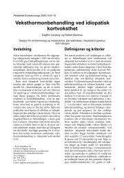 Veksthormonbehandling ved idiopatisk kortvoksthet - Pediatrisk ...