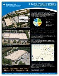 sieling industrial portfolio 221000 sf in columbia, md ... - Transwestern