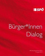BürgerInnen Dialoge - SPÖ