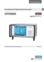CPC6000 Pneumatischer Präzisions-Druckcontroller - Wika