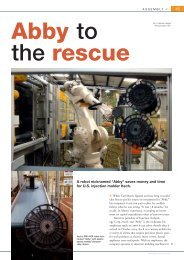 "< > A robot nicknamed ""Abby"" saves money and time for U.S. ..."