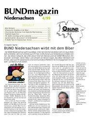 BUND Niedersachsen wirbt mit dem Biber
