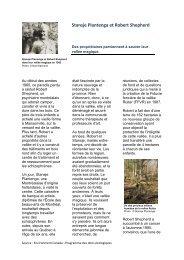 Stansje Plantenga et Robert Shepherd - La fiducie foncière de la ...