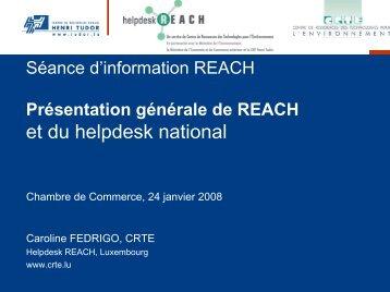 Présentation 1 - Helpdesk REACH & CLP