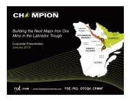 Building the Next Major Iron Ore Mine in the Labrador Trough